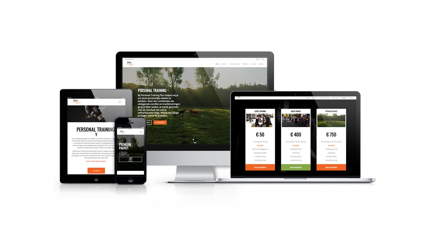 Personal Training Plus Webdesign