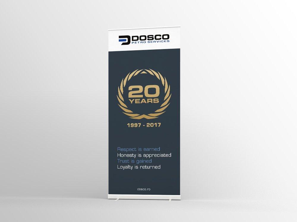 20 jarig bestaan roll up banner