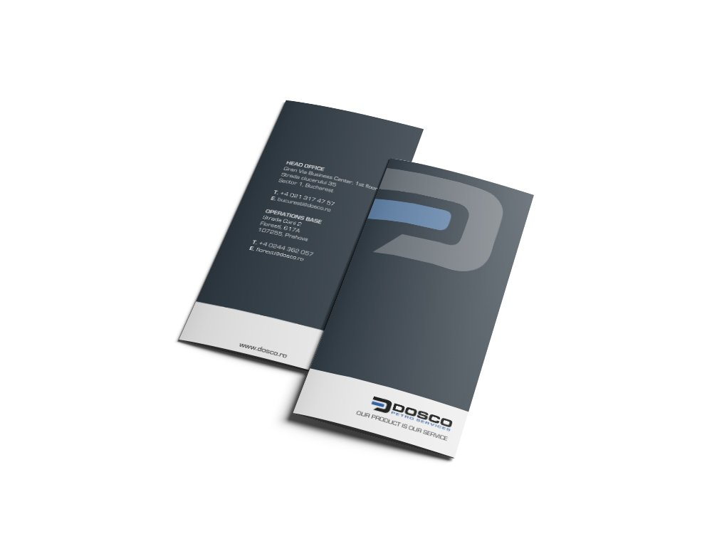 Trifold Brochure Design voor Dosco